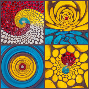 Designer home furnishings mosaic print artwork