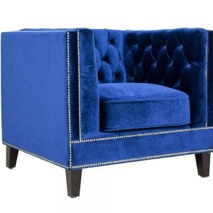 Victoria Blue Tufted Chair