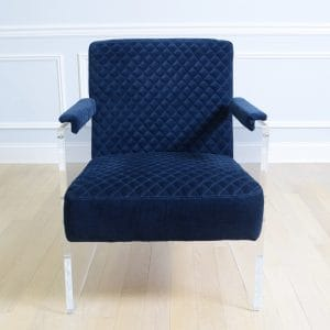 Tribeca Acrylic Velvet Chair