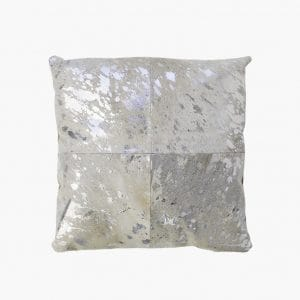 Forest Cowhide Silver Pillow