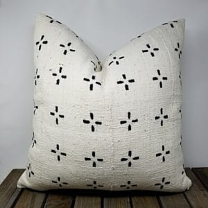 Black and white abstract design pillow