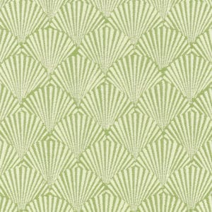 Green caribbea pattern fabric