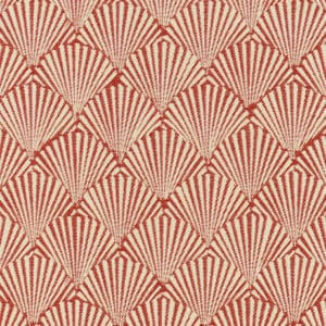 Red caribbea pattern fabric