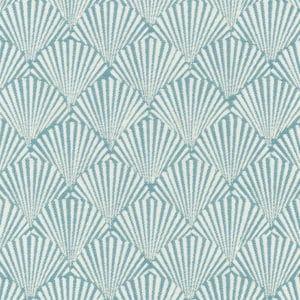 Teal caribbea pattern fabric
