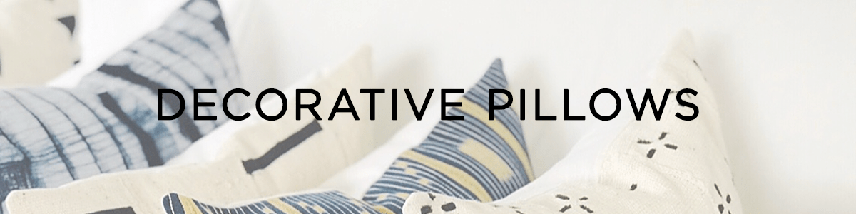 Decorative pillows banner
