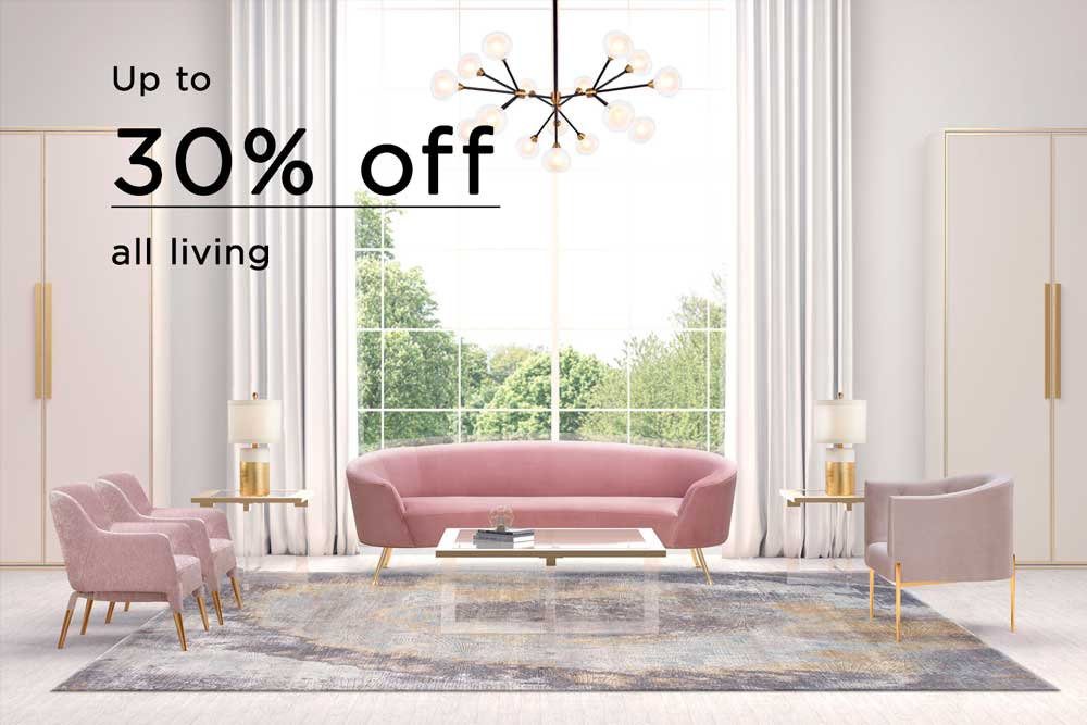 Living room home page pink sofa