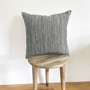 Black and white textured pillow for sale