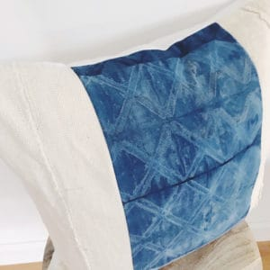 Close up of vivaan diamond pattern on pillow