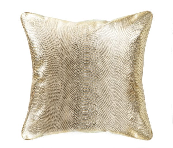 Throw decorative pillow with gold animal print
