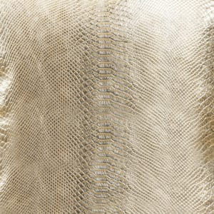 Gold animal print throw pillow close up