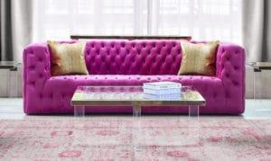 Beautiful Pink Sofa