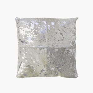 silver cowhide decorative pillow