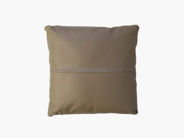 Throw pillow with centered back zipper