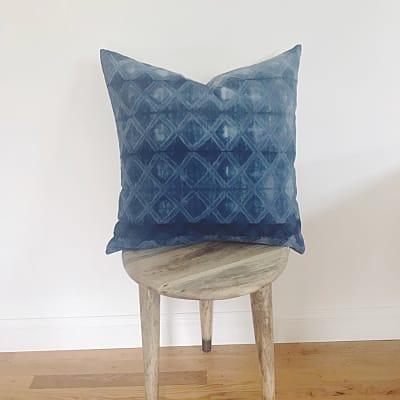 Diamond printed throw pillow