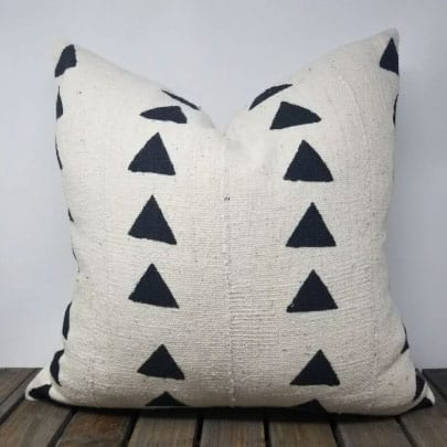 mud cloth throw pillow