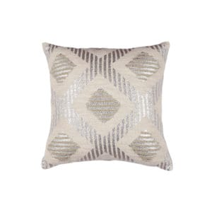 Throw pillow with metallic pattern