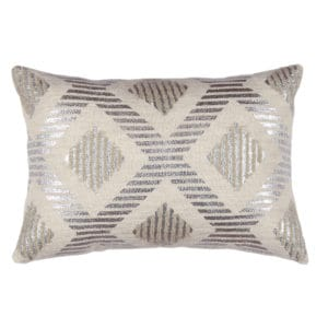 Rectangular throw pillow metallic design