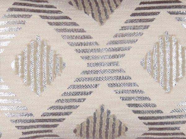 Metallic throw pillow detailed close up
