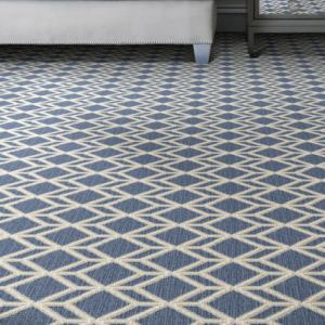 Pattern carpet in living room