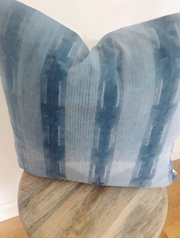 Striped shibori pattern detail