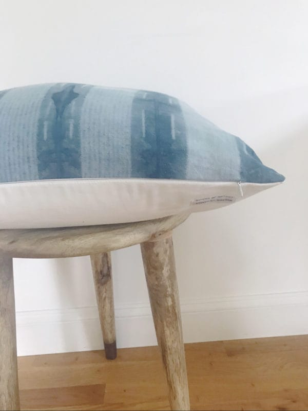Corner shot of decorative pillow