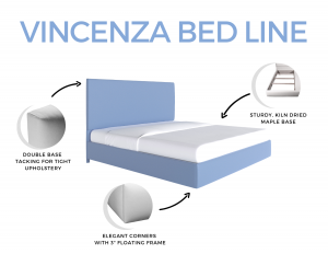 Vincenza Custom Upholstered Bed