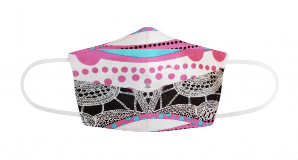 printed designer face mask with n95 lining