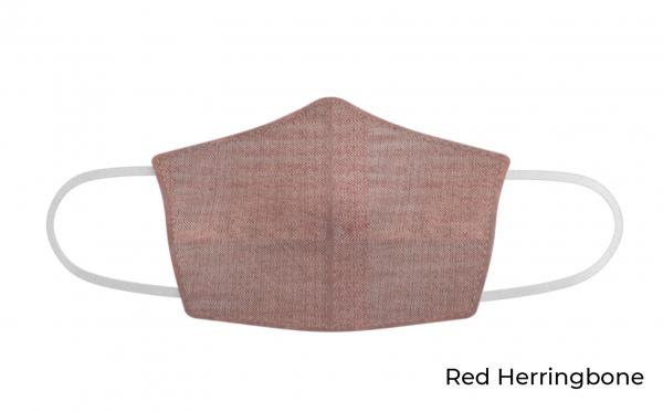 red herringbone face mask