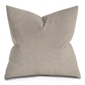 Beige Twill Weave Throw Pillow