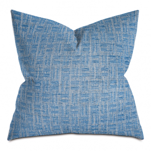 Blue Twill Weave Throw Pillow