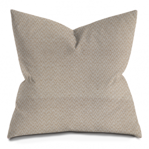 Beige Chevron Throw Pillow
