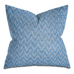 Blue Chevron Throw Pillow