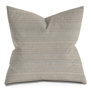 Beige and Blue Stripes Throw Pillow