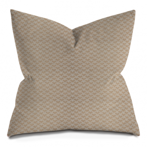 Beige Broken Chevron Throw Pillow