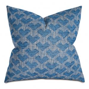 Blue Broken Chevron Throw Pillow