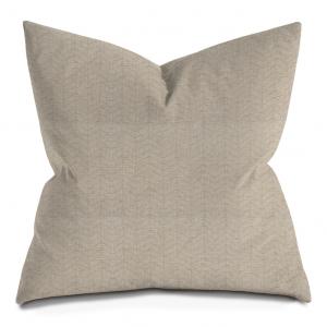 Beige Thin Herringbone Throw Pillow