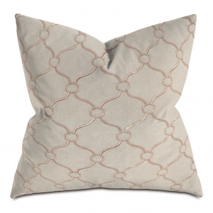 Beige and Camel Courtly Throw Pillow