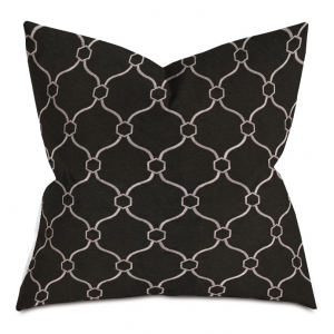 Black and White Courtly Throw Pillow