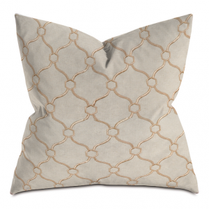 Beige and Golden Courtly Throw Pillow