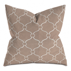 Brick and White Courtly Throw Pillow