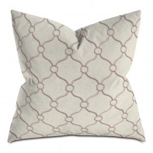 Beige and Brick Courtly Throw Pillow
