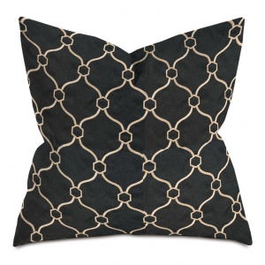 Black and Gold Courtly Throw Pillow