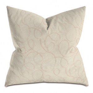Beige and Camel Circle Courtly Throw Pillow