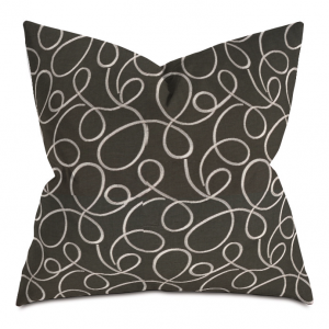 charcoal and white circles throw pillow