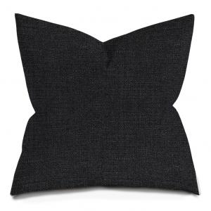 Black Weave Neutral Throw Pillow