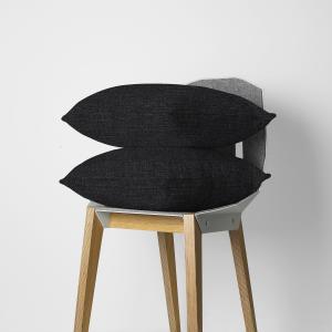 Black Weave Throw Pillow