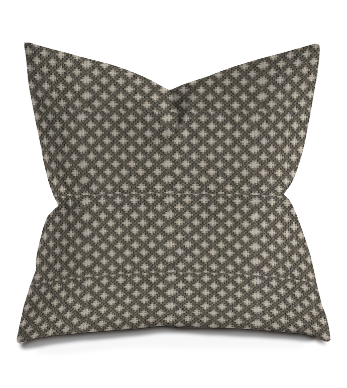 Gray Chunky Woven Throw Pillow Geometric Collection