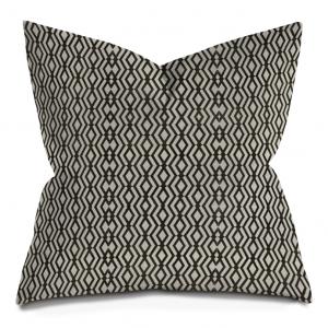 Black and White Ikat GeometricThrow Pillows