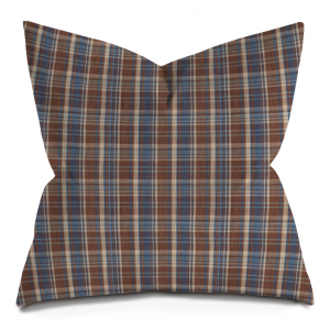 Blue and Brown Tartan Pillow