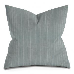 Blue-Gray Pinstripe Throw Pillow